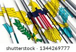 abstract flag of virgin islands.... | Shutterstock . vector #1344269777