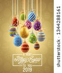 background with decorated... | Shutterstock .eps vector #1344288161