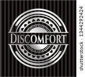 discomfort silver shiny badge | Shutterstock .eps vector #1344292424