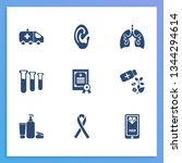 medicine icon set and medical...