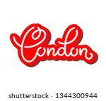handlettering of english city... | Shutterstock .eps vector #1344300944