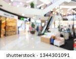 abstract blur shopping mall... | Shutterstock . vector #1344301091