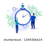 concept time management ... | Shutterstock .eps vector #1344306614