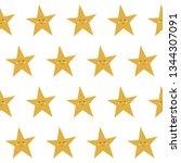 abstract paper cut star... | Shutterstock .eps vector #1344307091