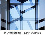 transparent glass wall with... | Shutterstock . vector #1344308411