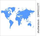 blank blue similar world map... | Shutterstock .eps vector #1344311177