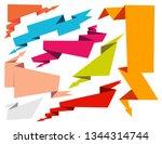 arrow ribbon banner in... | Shutterstock .eps vector #1344314744