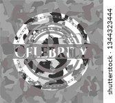 celebrity grey camouflage emblem | Shutterstock .eps vector #1344323444