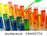 Colorful Test Tubes Close Up
