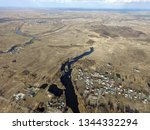 aerial view of the saburb... | Shutterstock . vector #1344332294