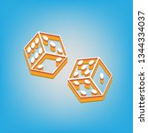 dices sign. vector. white icon... | Shutterstock .eps vector #1344334037
