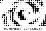 halftone gradient pattern.... | Shutterstock .eps vector #1344338264