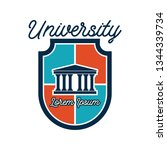 university   campus logo with... | Shutterstock .eps vector #1344339734