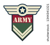 army badge logo isolated on... | Shutterstock .eps vector #1344341321