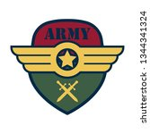 army badge logo with text space ... | Shutterstock .eps vector #1344341324