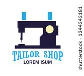 textile logo with text space... | Shutterstock .eps vector #1344343181