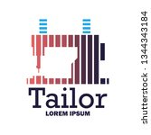 textile logo with text space... | Shutterstock .eps vector #1344343184