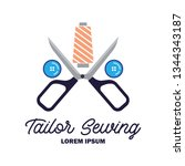 textile logo with text space... | Shutterstock .eps vector #1344343187