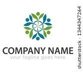 leaf logo template | Shutterstock .eps vector #1344347264