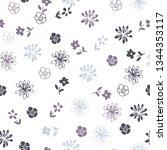 trendy seamless floral pattern  ... | Shutterstock .eps vector #1344353117