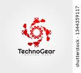 gear vector logo design | Shutterstock .eps vector #1344359117
