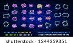 big set of comic speech bubble... | Shutterstock .eps vector #1344359351
