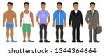 smiling asian man in different... | Shutterstock .eps vector #1344364664