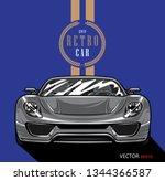 retro car logo graphic design... | Shutterstock .eps vector #1344366587