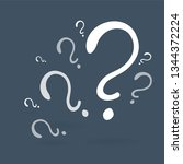 question signs colorful vector... | Shutterstock .eps vector #1344372224