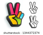 vector icon with colorful hand... | Shutterstock .eps vector #1344372374