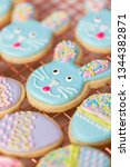 easter sugar cookies decorated... | Shutterstock . vector #1344382871