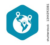 globe and map pointers icon in...   Shutterstock .eps vector #1344392081