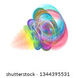 an abstract computer generated... | Shutterstock . vector #1344395531