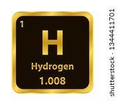 hydrogen h chemical element... | Shutterstock .eps vector #1344411701