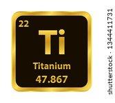 titanium ti chemical element... | Shutterstock .eps vector #1344411731