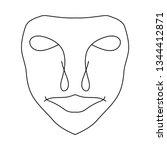 cartoon face. contour face...   Shutterstock .eps vector #1344412871