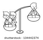 businessman balance   Shutterstock .eps vector #134442374