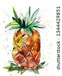 juicy and beautiful pineapple   Shutterstock . vector #1344429851