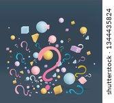 3d figures realistic vector...   Shutterstock .eps vector #1344435824