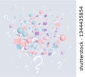 3d figures realistic vector...   Shutterstock .eps vector #1344435854