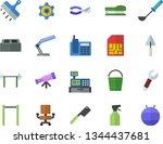 color flat icon set trowel flat ...   Shutterstock .eps vector #1344437681