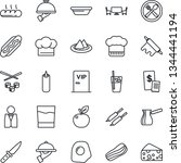 thin line icon set   waiter... | Shutterstock .eps vector #1344441194