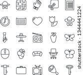 thin line icon set   case... | Shutterstock .eps vector #1344441224