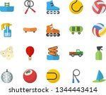 color flat icon set popcorn...   Shutterstock .eps vector #1344443414