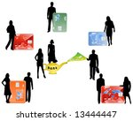 illustration of people and... | Shutterstock .eps vector #13444447