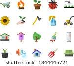 color flat icon set wheelbarrow ...   Shutterstock .eps vector #1344445721