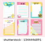 templates for notes  to do and... | Shutterstock .eps vector #1344446891