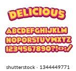 cartoon font   mobile game set...