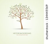 vector green tree | Shutterstock .eps vector #134445569
