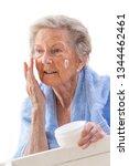 portrait of senior woman... | Shutterstock . vector #1344462461